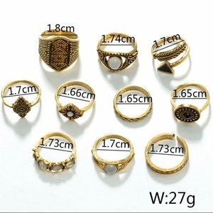 Jewelry - BRAND NEW! Statement rings set! Size-7